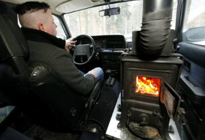 fire place car